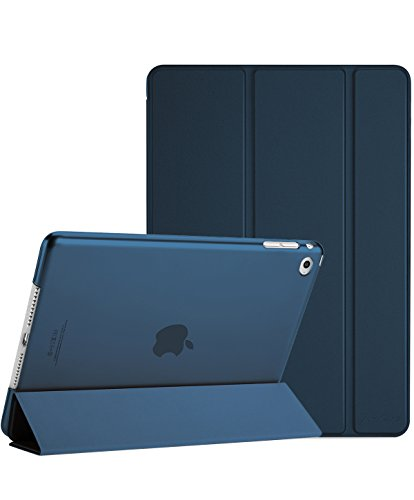(ProCase Smart Case for iPad Air 2 (2014 Release), Ultra Slim Lightweight Stand Protective Case Shell with Translucent Frosted Back Cover for Apple iPad Air 2 (A1566 A1567) -Navy)