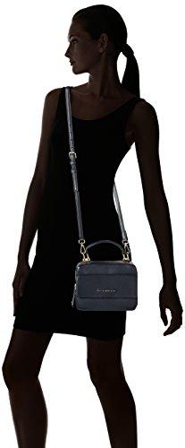 Tommy Hilfiger Leather Twist Mini Trunk, Sac Femme, Bleu (Midnight), 3x6x8 cm