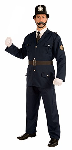 Forum Novelties Men's British Bobbie Costume Police Uniform, Blue, Standard -