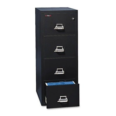 FireKing 41831CBL 31-1/8-Inch by 22-1/8-Inch Insulated 4-Drawer Vertical Letter File, Black