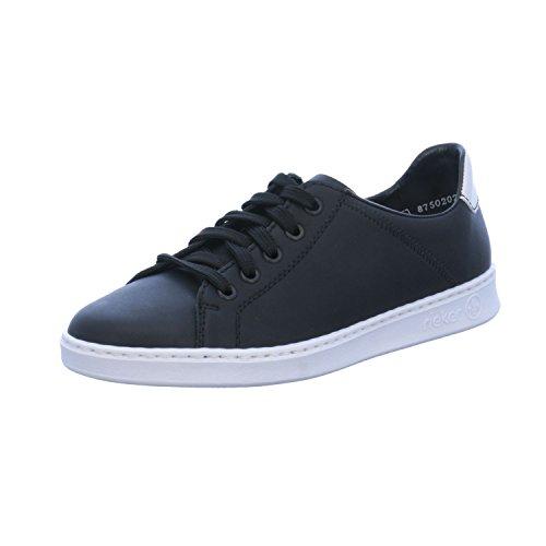 Noir Lacets à de Femme pour 37 Chaussures Ville Noir EU Noir Rieker xFqng0q