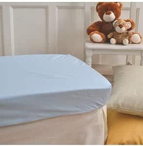 10XDIEZ Sabanas bajeras Cuna Poliester algodón Azul - Medidas sabanas bebé - Maxicuna (70x140cm): Amazon.es: Hogar