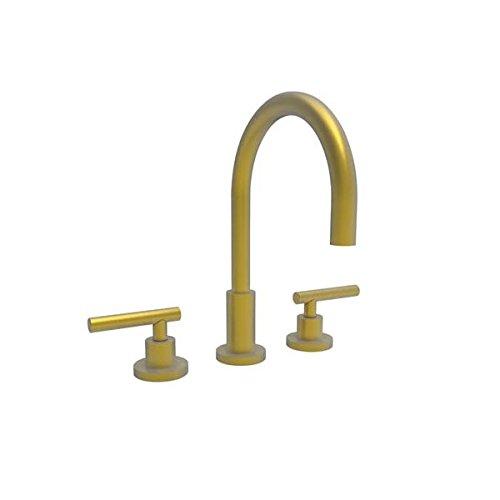 [Newport Brass 990L/10 East Linear Double Handle Widespread Lavatory Faucet with Metal Lever Handles (L, Satin Bronze] (Bronze 990 Double Handle)