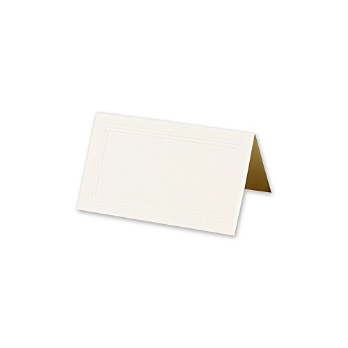 Crane & Co. Ecru Triple Debossed Bulk Place Card, Pack of 100, (DF8504)