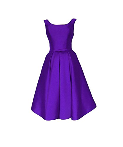 Dresses Bridesmaid Stain Purple Boat Women's Homecoming Short DKBridal Prom Cocktail Dresses Neck Backless 6TFwUP