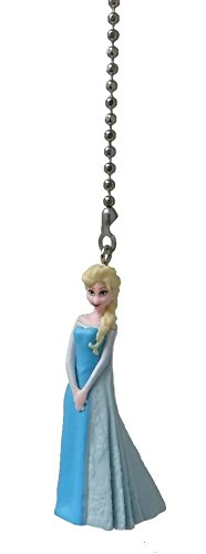 Disney Classic Disney FROZEN movie assorted Character Ceiling FAN PULL light chain (Elsa - blue party dress) (Disney Ceiling Fan Pull)