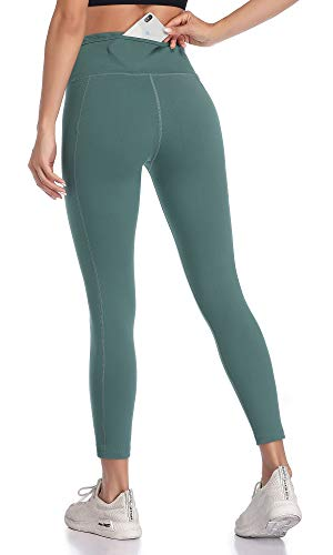 VUTRU High Waisted Leggings for Women Tummy Control Workout Running Leggings Back Pocket Yoga Pants