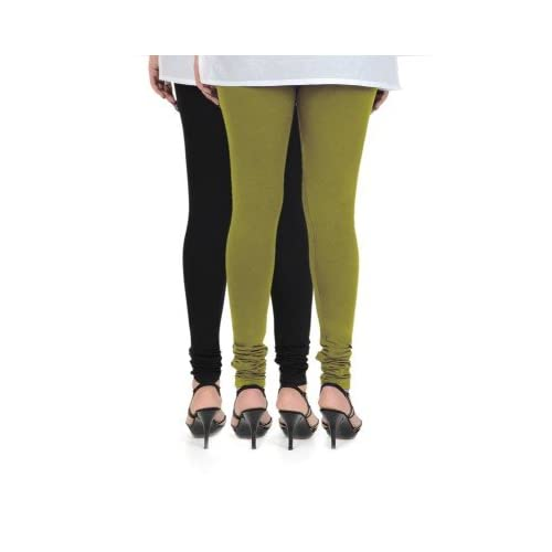 cccdfa042acd8 hot sale Vami Womens Cotton Multicolor Pack of 2 Churidar Leggings ...