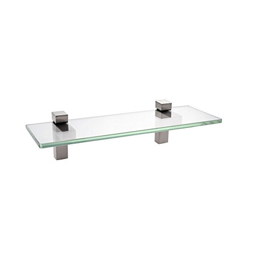 KES Bathroom Shelf, Tempered Glass Shelf 14 Inch 8MM-Thick Wall Mount Rectangular, Brushed Nickel Bracket, BGS3201S35-2 ()