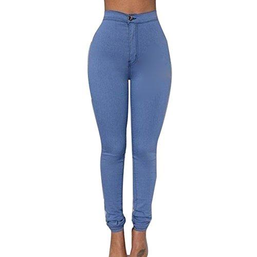 Skinny Fleurs Taille Pas Haute Femmes Broderie Pantalon Pansement Leggings Slim Collant Sexy de Crayon Fit Meedot Bleu T6wtanqxT