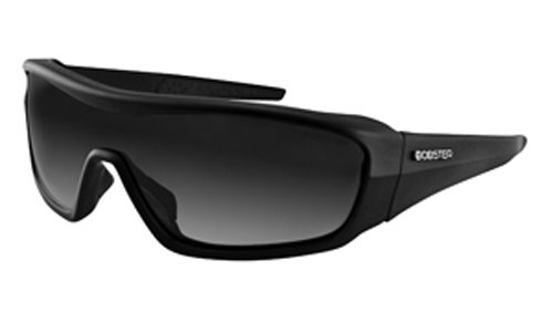Bobster Enforcer Oversized Sunglasses, Black Frame/Smoke, Clear, Amber - Aviator Brand Name Sunglasses