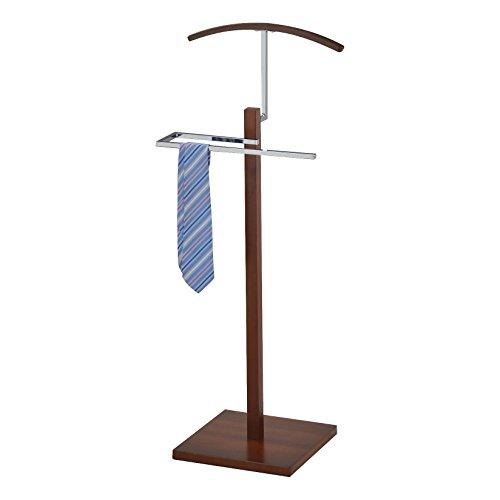 Pilaster Designs - Chrome Suit Rack Valet Stand (Walnut)