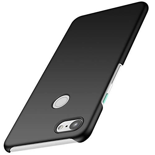 Avalri Google Pixel 3 Case, Ultra Thin Anti-Fingerprint and Minimalist Hard PC Cover for Google Pixel 3 (Silky Black)