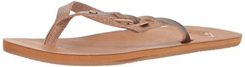 Roxy Women's Liza Sandal Flip Flop, Bronze, 6 M US ()