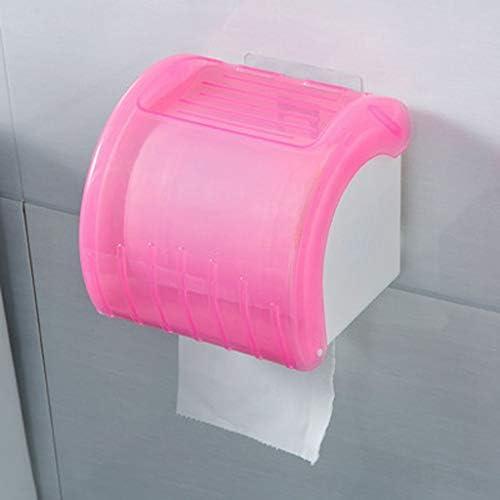 GONDD トイレットペーパーホルダー、壁掛けトイレットペーパーホルダー、防水/防塵ロール紙ホルダー、自己接着、ウォールマウント用トイレットペーパーホルダー、紙タオルディスペンサー (Color : Pink)