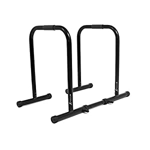 Well-Being-Matters 31rgkwFru6L._SS300_ ProsourceFit Dip Stand Station, Ultimate Heavy Duty Body Bar Press with Safety Connector for Tricep Dips, Pull-Ups, Push…
