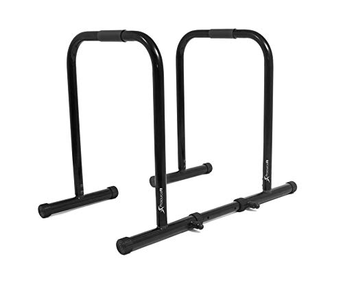 ProsourceFit Dip Stand Station, Heavy Duty Ultimate Body Press Bar with Safety Connector for Tricep Dips, Pull-Ups, Push-Ups, L-Sits, Black by ProsourceFit (Image #2)