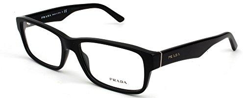 - Prada Eyeglass Frames PR16MV 1BO1O1-55 - Matte Black PR16MV-1BO1O1-55