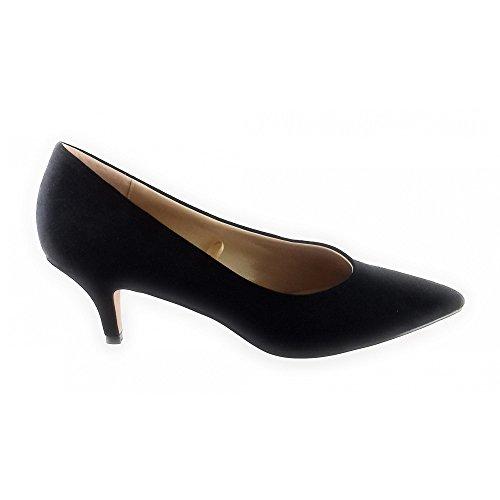 Lotus Dray Black Microfibre Court Shoe SDkYTH
