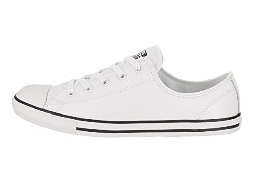 Dainty Weiß Basses Leath femme Blanc Blanc Sneakers Ox Converse U0pndqp