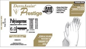 Innovative Healthcare 139900 DermAssist PRESTIGE Series 139 Powder-Free Latex Sterile Surgical Glove, Size 9.0, Clear (Pack of 200)