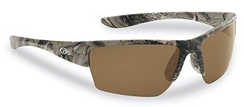 Flying Fisherman 7724CA Glades Polarized Sunglasses, Matte Camo Frame, Amber (Amber Matte)