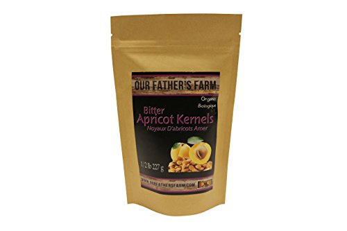 Our Father's Farm Bitter Certified Organic Raw Apricot Kernels (1/2 Pound / 227 (Apricot Seed Powder)