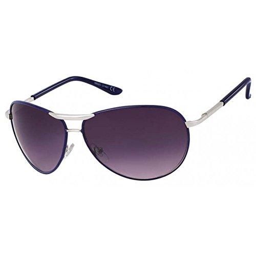 Lunettes de soleil chic-Net unisexe lunettes de soleil aviateur teintées 400UV porno larges lunettes de web bleu foncé nBsaK1gX