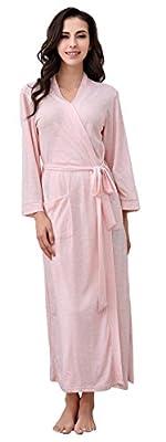 Richie House Women's Long Style Short Sleeve Robe Bathrobe Size S-XL RHW2824