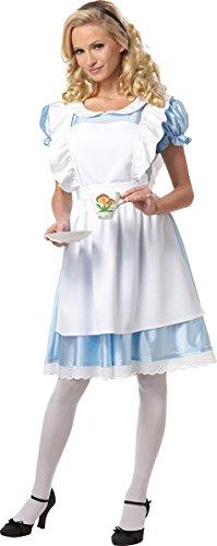 California Costumes Women's Alice Costume,White/Blue, Medium ()
