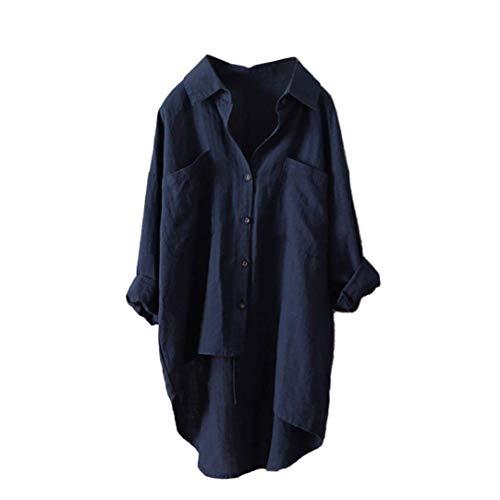 Zhrui Décontractée unie taille taille grande café 18 Plus Asymétrique Bas Marine plus Tee Luk Cn couleur de shirt Haut Chemise couleur gar7gq
