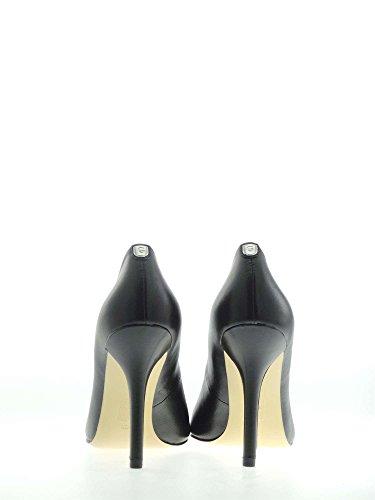Negro Leather 10 Zapatos Escisiòn Tacòn Pumpo Guess Mujer Plasmia 5 Cm qfcvA