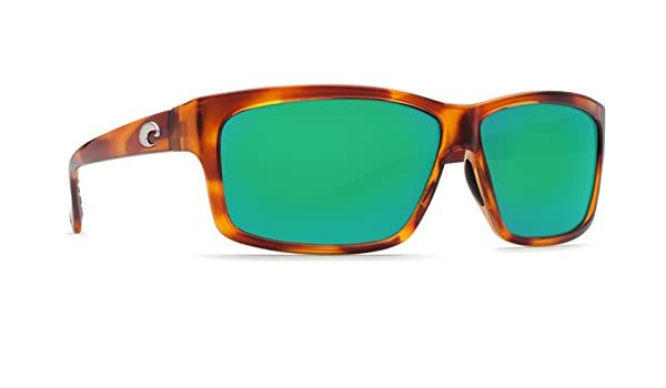 d0fa4d75a1 Amazon.com  Costa Del Mar Cut Sunglasses - Honey Tortoise Frame with Green  Mirror 580P (Plastic) Lens  Sports   Outdoors