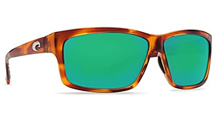 de6a4d5851 Image Unavailable. Image not available for. Color  Costa Del Mar Cut  Sunglasses - Honey Tortoise Frame with Green Mirror ...