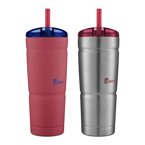 Bubba Envy S Vacuum-Insulated Tumbler, 24 oz, Luau and Stainless Steel, 2 Pack