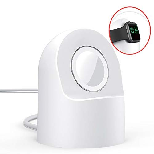 AMZ Original Watch Charger Stand Compatible for Apple Watch Series4/3/2/1/44mm/40mm/42mm/38mm - Fast Charging Watch Charger Station with Integrated Cable Management Slot E4