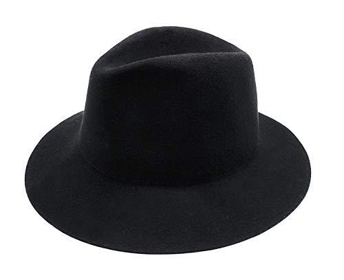 Bienvenu 100% Wool Fedora Hat Classic Fashion Sun Hat Beanie Cap for Kids,Style2_Black -