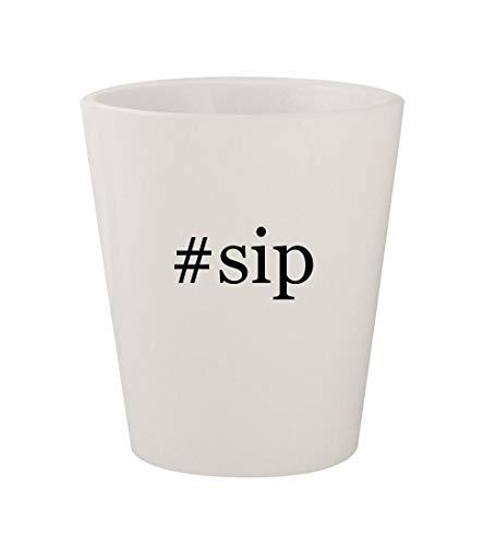 #sip - Ceramic White Hashtag 1.5oz Shot Glass