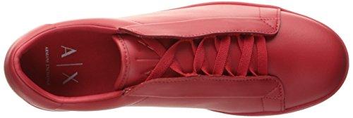 A | X Armani Exchange Mens Nascosta Scarpa-pizzo Fashion Sneaker Rosso Assoluto
