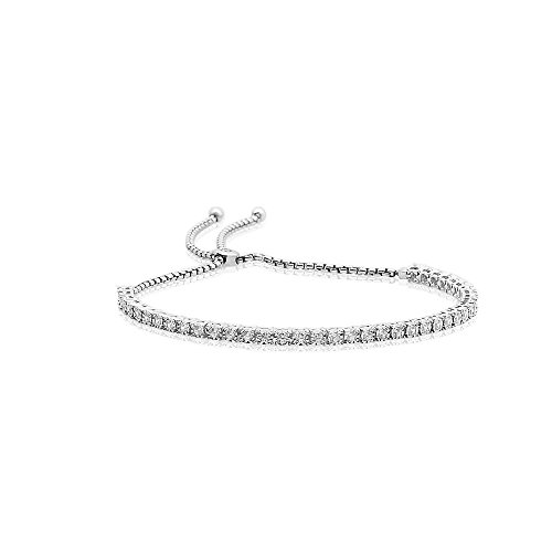 Illusion Tennis Bracelet - Little Switzerland 1Cttw Bolo Adjustable Diamond Tennis Bracelet