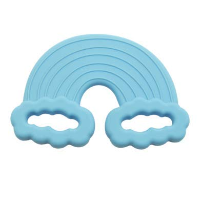 Little Teether Teething Toy Rainbow Cyan Teether for Baby