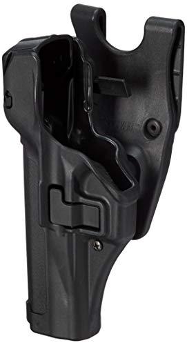 (BLACKHAWK! SERPA Level 3 Auto Lock Duty Holster with Matte Finish, Size 14, Black)