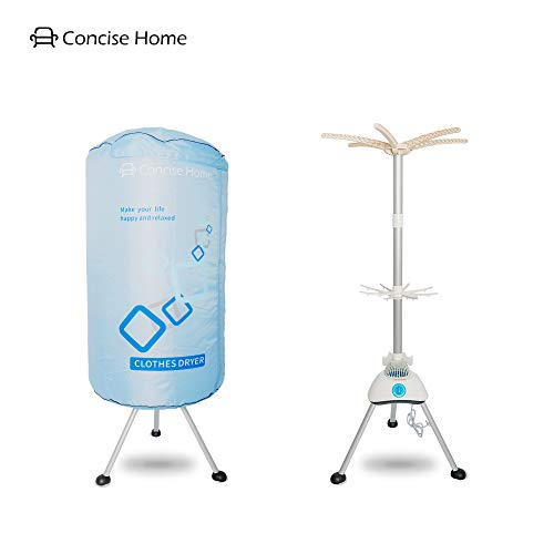 Concise Home Portable Electric Clothes Dryer Home Dorms Hot Air Machine...