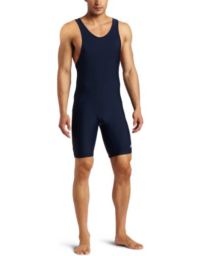 ASICS Men's Solid Modified Singlet, Navy, X-Large