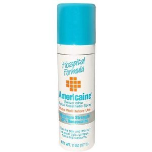 Americaine Benzocaine Topical Anesthetic Spray-2, oz. (Pack of (Americaine Benzocaine Topical Anesthetic)