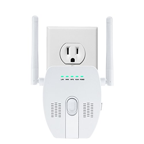 Wifi Repeater Range Extender WiFi Signal Booster for Home 300Mbps Multi Function Wifi Extender for Better Smart Home Coverage (white-001)