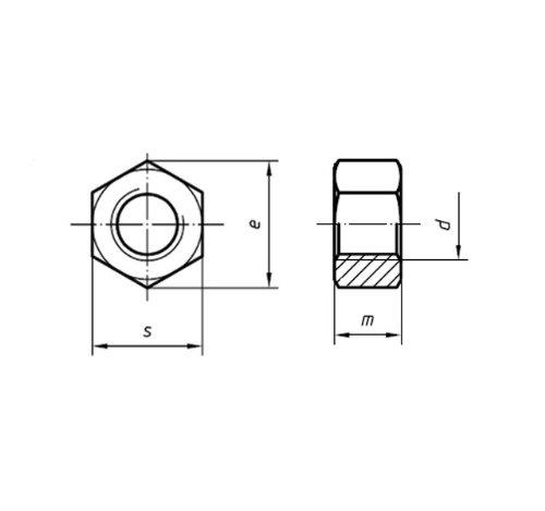 UNC Sechskant-Muttern Edelstahl 11 A2 4 St/ück 5//8 Zoll