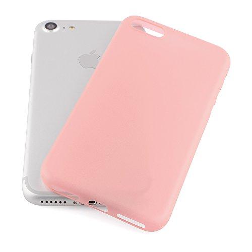 iPhone 7 Hülle Ultra Thin Case Schutzhülle 4,7'' Zoll in aufregenden Farben rose gold - Idealer Schutz für Diamantschwarz Jet Black iPhone7