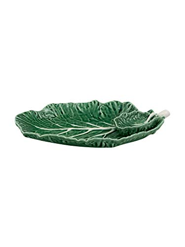 Bordallo Pinheiro Cabbage Leaf with Bowl 28 Natural Platter