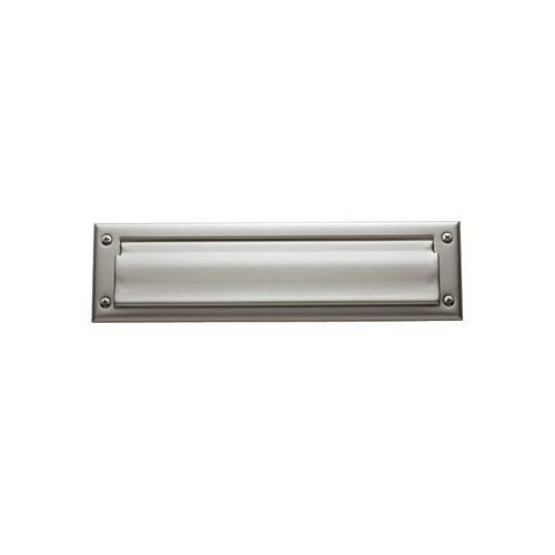 Package Size Letter Box Plate - 14112 Satin Nickel